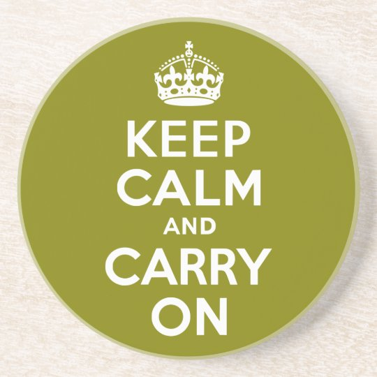 Olive Keep Calm and Carry On Coaster