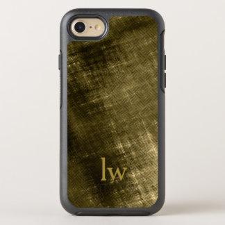 olive khaki black grungy tweed OtterBox symmetry iPhone 8/7 case