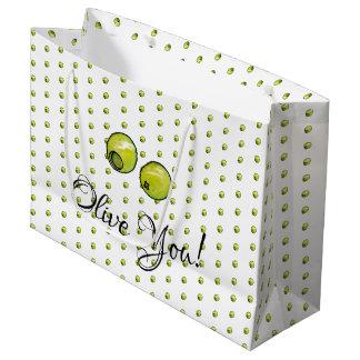 Olive Large Gift Bag