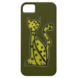 Olive le chat vert étuis iPhone 5