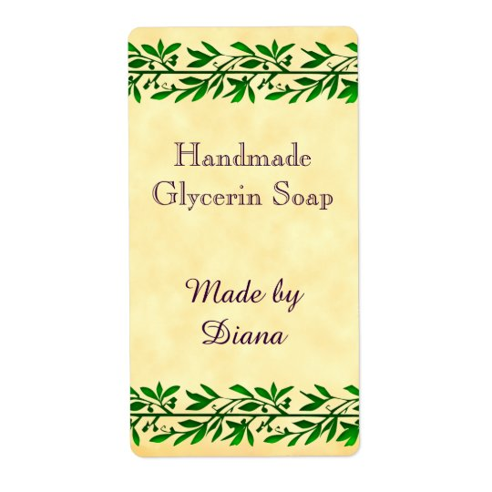 Olive Leaf Garland Custom Craft Labels