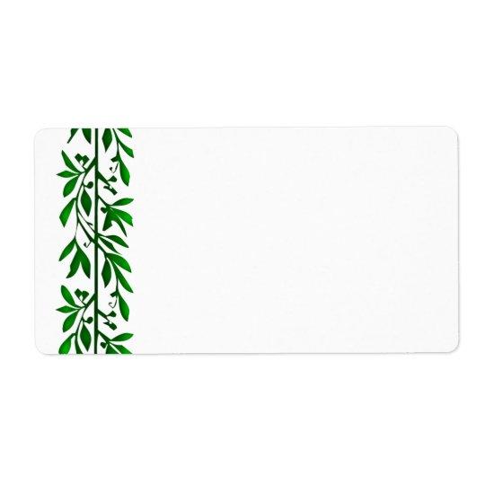 Olive Leaf Vine Art Large Labels