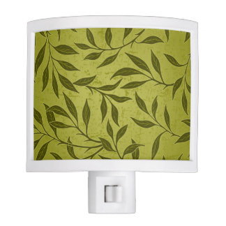 Olive Leafy Vine Pattern Night Lite