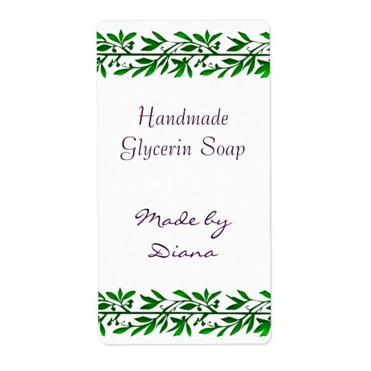 Olive Leaves Custom Craft Labels