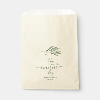"Olive Leaves ""Sweetest Day"" Wedding Favor Bags"