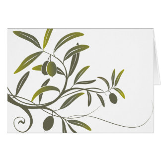 Olive notecard