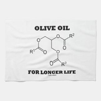 Olive Oil For Longer Life (Molecule) Kitchen Towel