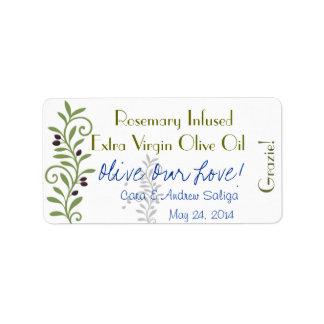 Olive Oil Label Sticker