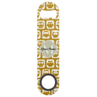Olive Owls Custom Monogram Bar Key