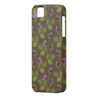 Olive Pretty Purple Flowers Case-Mate iPhone 5 iPhone 5 Cover