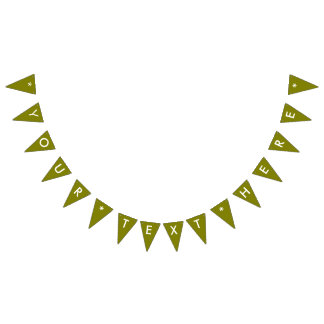 Olive Solid Color Customize It Bunting Flags