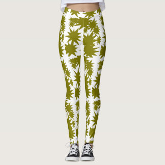 Olive Star Power Leggings
