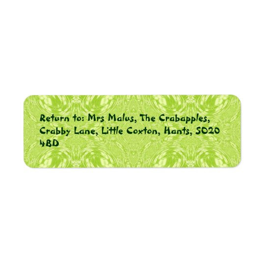 Olive Swirl Return Address Label