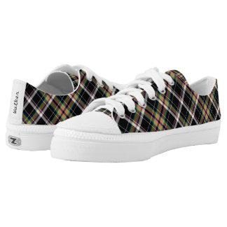 Olive Tartan Low-Top Sneakers