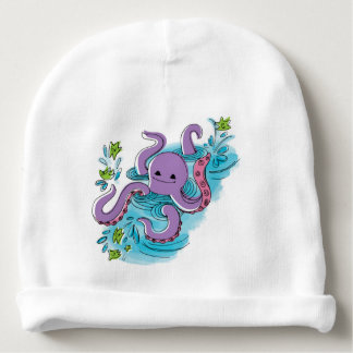 Olive-the-Octopus Baby Cotton Beanie Baby Beanie