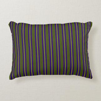 Olive This Pillow, Mix & Match - BlueGreen Stripes Accent Pillow