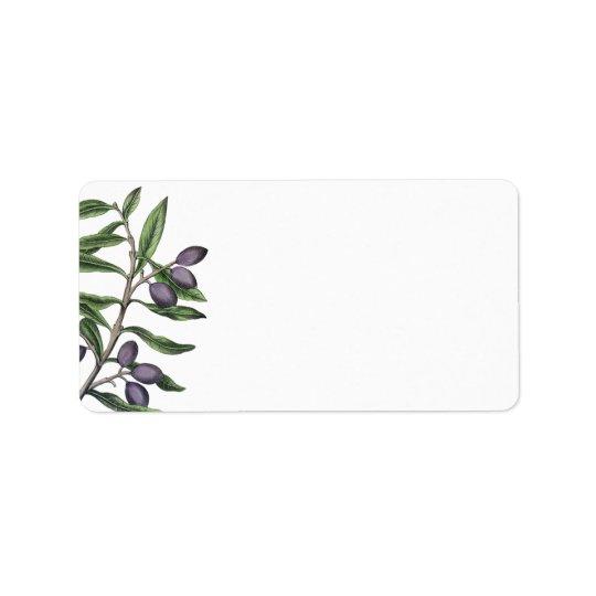 Olive Tree Branch | Green Purple Label