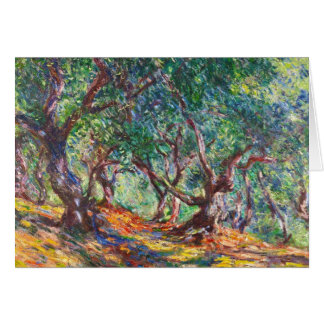 Olive Trees in Bordighera, 1884 Claude Monet Card