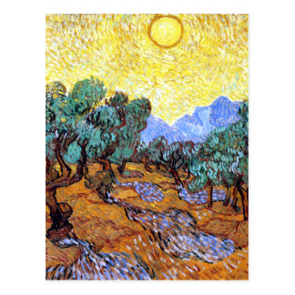 Olive Trees in the Sun Van Gogh Postcard
