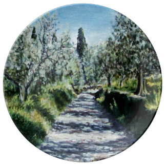 OLIVE TREES IN TUSCANY PLATE