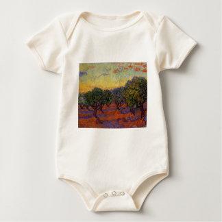 Olive Trees - Vincent Van Gogh Baby Bodysuit