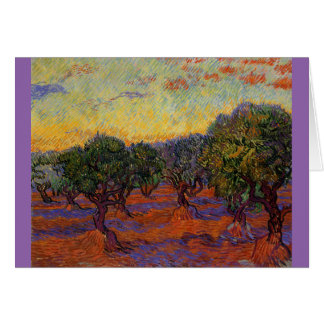 Olive Trees - Vincent Van Gogh Card