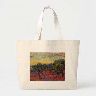 Olive Trees - Vincent Van Gogh Large Tote Bag