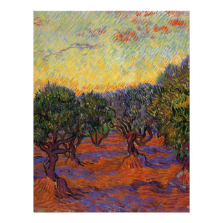 Olive Trees - Vincent Van Gogh Letterhead