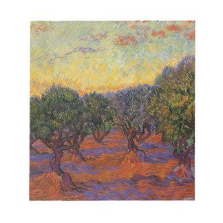 Olive Trees - Vincent Van Gogh Notepad