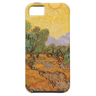 Olive Trees, Yellow Sky and Sun, Vincent van Gogh iPhone 5 Covers