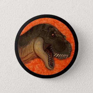 Olive Tyrannosaurus 2 Inch Round Button