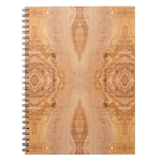 Olive wood surface texture patterns notebooks