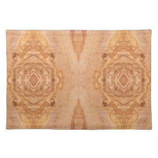 Olive wood surface texture patterns placemat