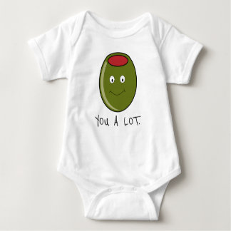 Olive You A Lot One-Piece Baby T-Shirt