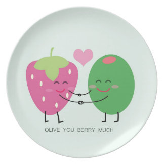 Olive You Berry Much Party Plates