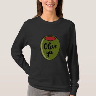 Olive You I Love You Cute Funny Valentine's Day T-Shirt