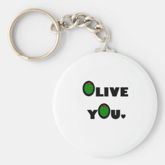 Olive you keychain
