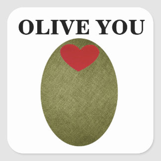 Olive You Stickers