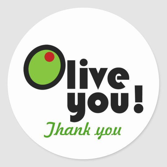Olive You! Thank you sticker