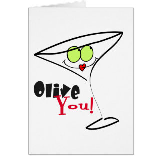 Olive You Valentine's Cards