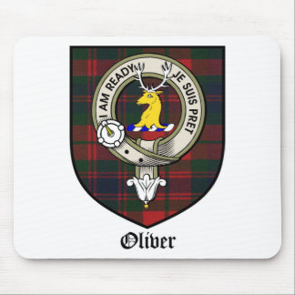Oliver Clan Crest Badge Tartan Mouse Pad