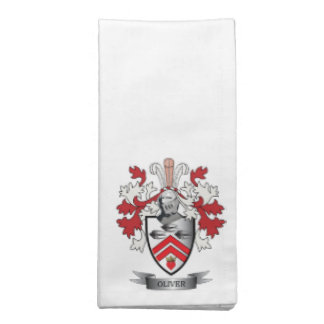 Oliver Family Crest Coat of Arms Napkin