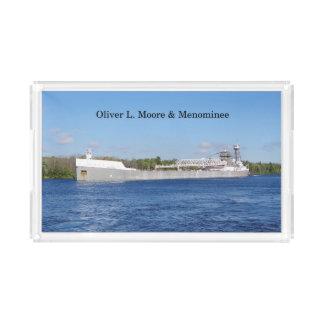 Oliver L. Moore & Menominee acrylic tray