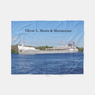 Oliver L. Moore & Menominee blanket