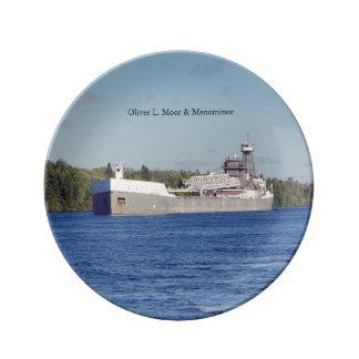 Oliver L. Moore & Menominee decorative plate