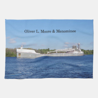 Oliver L. Moore & Menominee kitchen towel