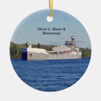 Oliver L. Moore & Menominee ornament