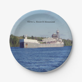 Oliver L. Moore & Menominee paper plate