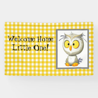 Oliver Owl Yellow & White Welcome Home Banner