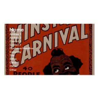 Oliver Scott s Big Ministrels Carnival 40 people Business Cards